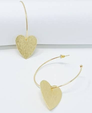Heart Hoop Earrings -2026