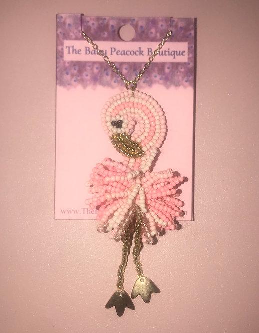 Light Pink Flamingo Necklace - 3046