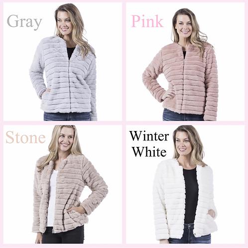 Faux Fur Jacket- 4 Color Options -6096
