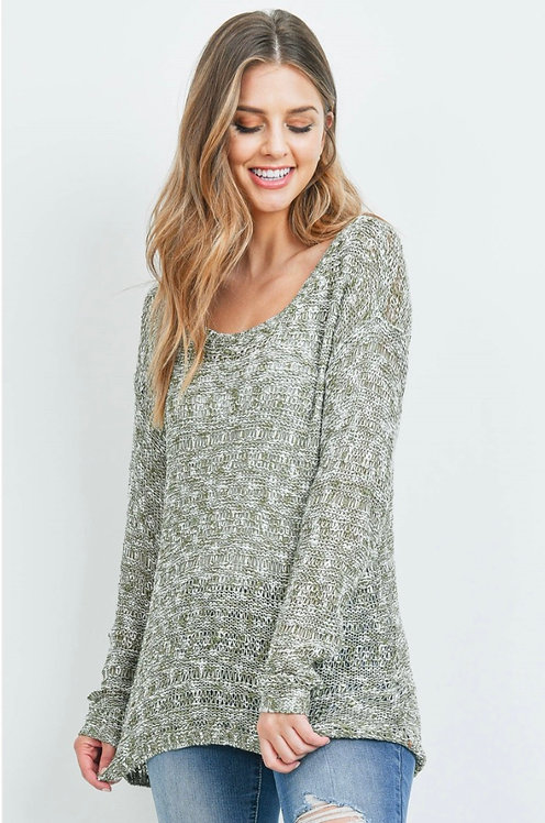 Light Spring Sweater - Light Olive- 6117