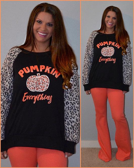 Leopard Pumpkin Print Long Sleeve - 6077