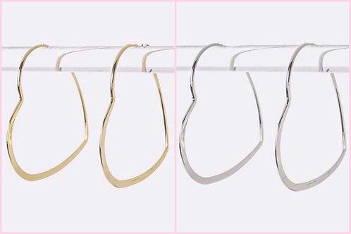 Heart Shape Iconic Hoops -2102