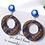 Thumbnail: Plaid Circle Earrings -2120