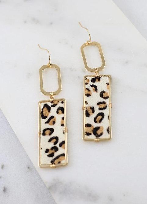 Rectangle Leopard Earrings -2017