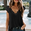 Thumbnail: Black Lace Knit Top 6065