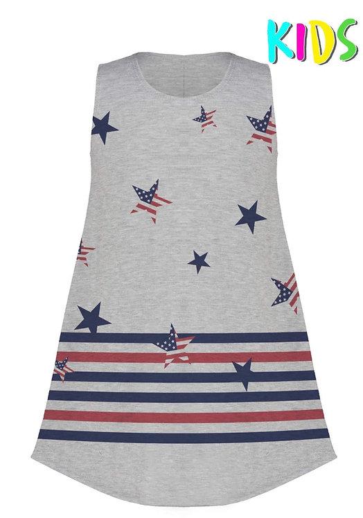 Girls Stars & Strips Dress/Tunic -5002