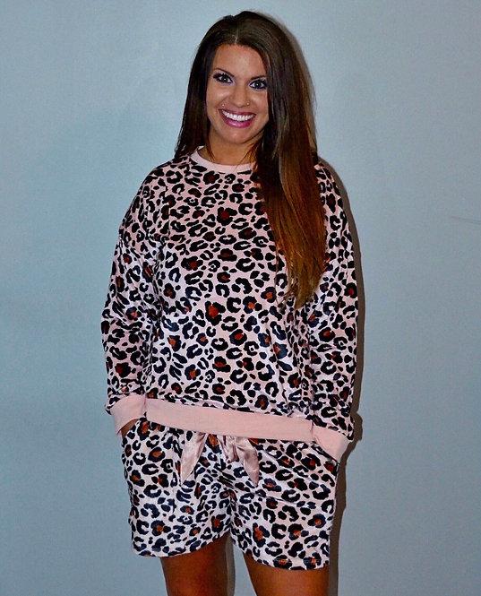 Pink Leopard Loungewear - 8010