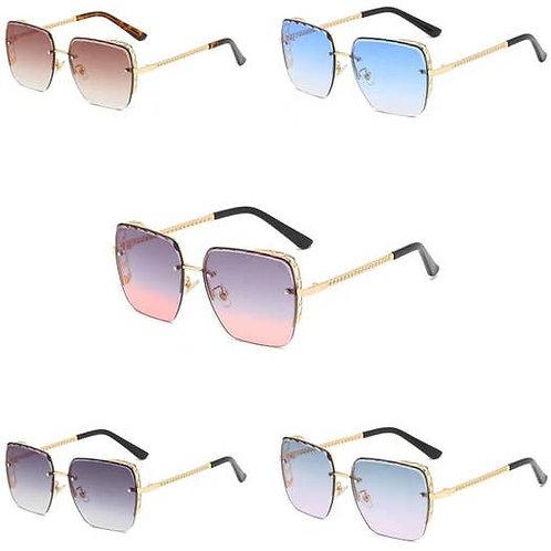 Women Flat Top Square Anti-Reflective Sunglasses -1002