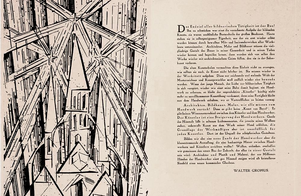 Manifesto da escola de artes aplicadas Bauhaus