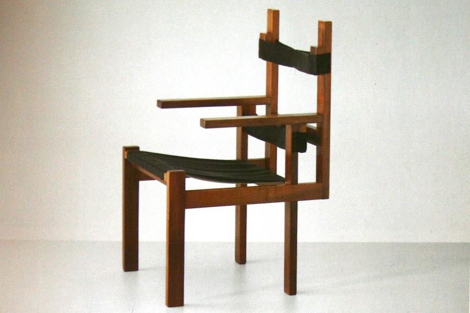 cadeira marcel breuer wooden slats bauhaus
