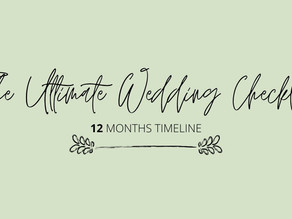The Ultimate Wedding Checklist (+download)