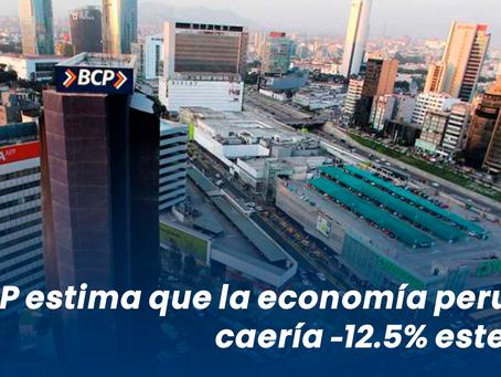 BCRP estima que la economía peruana caería -12.5% este año