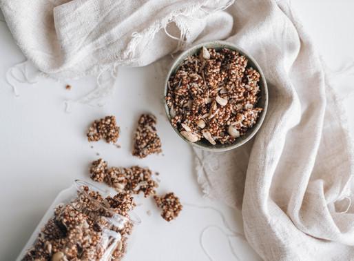Salted Caramel Crunchy Granola