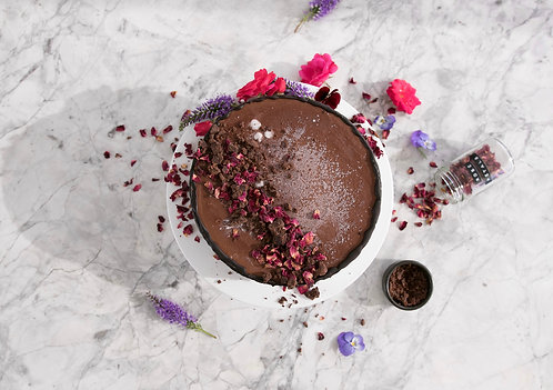 Raw Double Chocolate Celebration Cakes