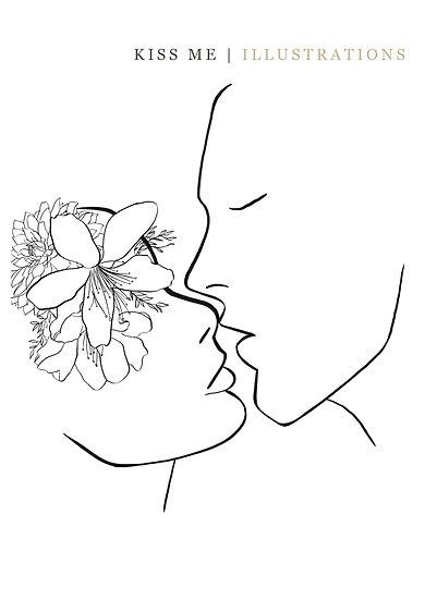 Kiss Me | Original Illustration A4
