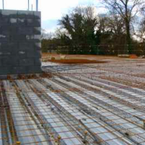 second floor grid for cement slab