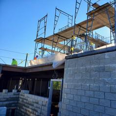 scaffolding 2nd floor