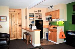 Pinyon Pine Adobe Cabin Kitchenette