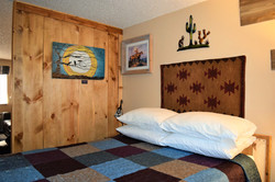 Desert Juniper Adobe Cabin queen bed