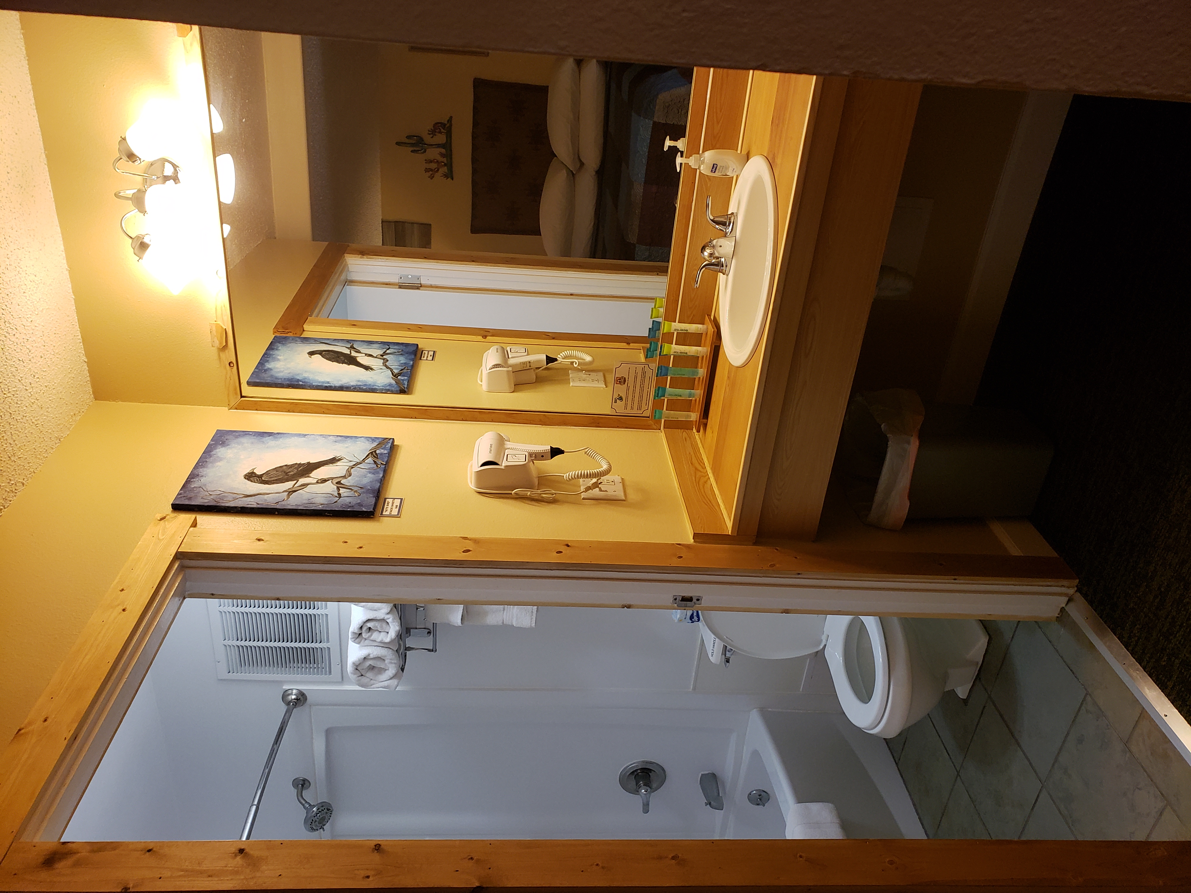 Desert Juniper Adobe Cabin bathroom sink