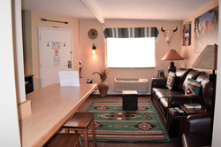 Pinyon Pine Adobe Cabin Living Room