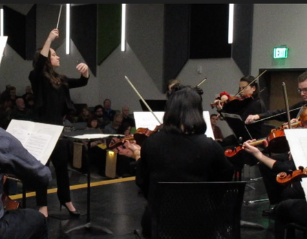 Conducting the MSOE Orchestra, November 2019