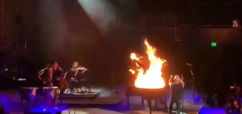 Performing with Disturbed, October 2019, Fiserv Forum, Milwaukee