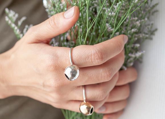 Anel Terral - Vasinho Bolinha em prata