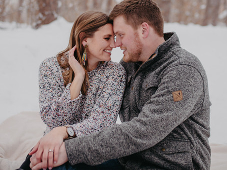Rice Creek Trail Engagement Session - Nick and Kaitlin in a Winter Wonderland!