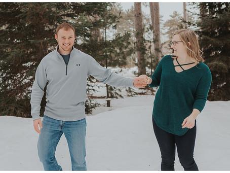 Wintry Hanson Tree Farm Engagement Session - Minneapolis, Minnesota - Kyle & Marissa