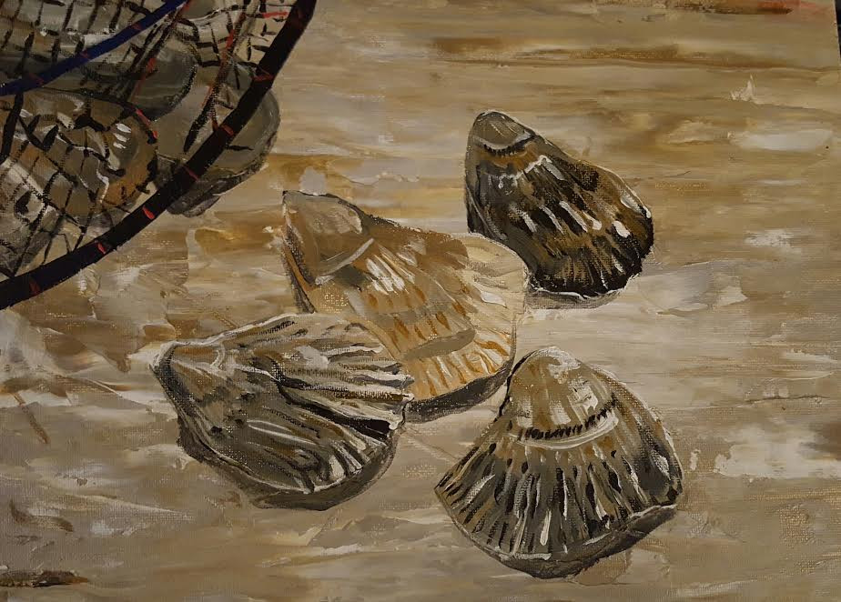 Oyster Acrylic Painting -- PDJ