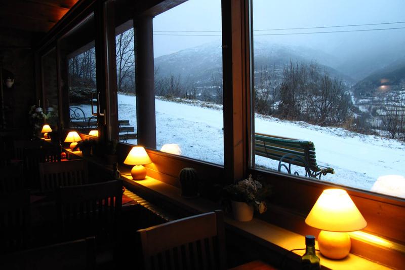 Hotel Can Gasparo - Restaurante vistas nieve