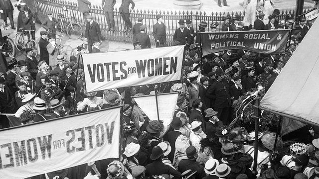 suffragettes protest votes for women