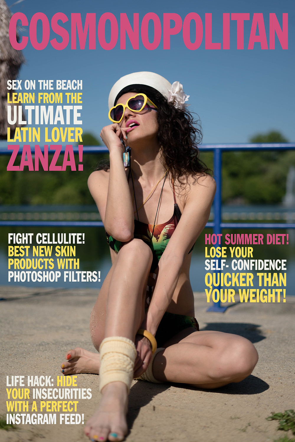 Cosmopolitan Cover - if fashion mags were honest
