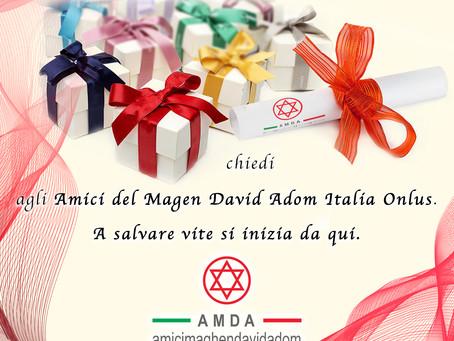 Amici di Magen David Adom in Italia ONLUS da un nuovo significato alla bomboniera