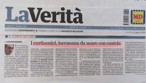 La Verità - 11/08/2019 - I Cortisonici, toccasana da usare con cautela