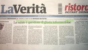 La salute è questione di giusta informazione - La Verità 26/01/2020