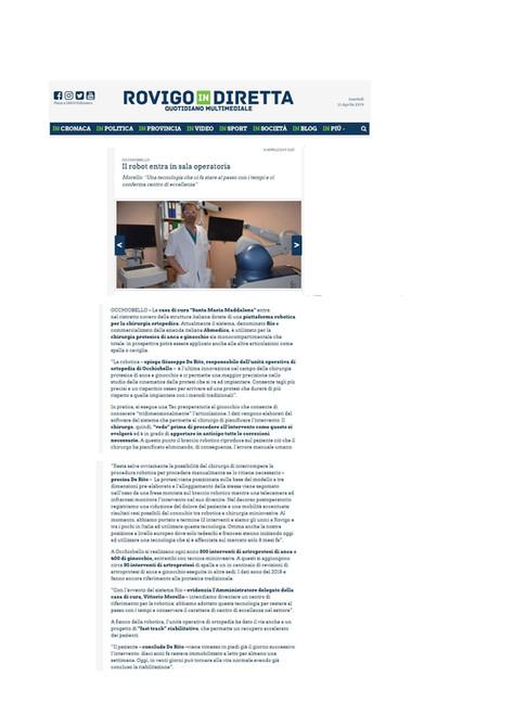 Rovigo in Diretta - 16/04/2019 - Il robot entra in sala operatoria