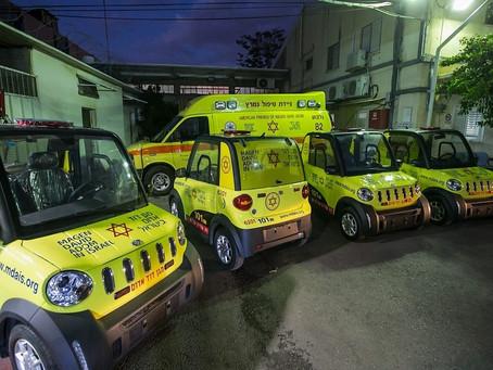Gialli, piccoli e veloci: sono gli E-Quad, i nuovi mezzi Salvavita Elettrici