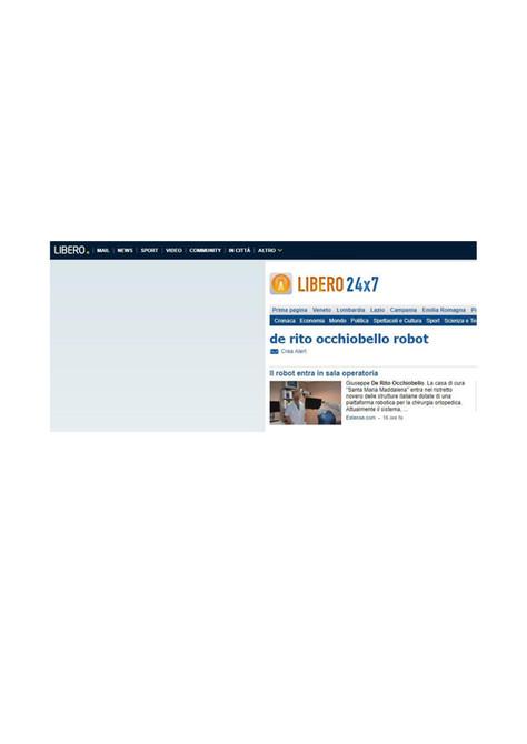 LIBERO.IT - De Rito Occhiobello Robot 16/04/2019 - Il robot entra in sala operatoria