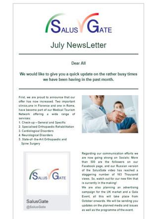 SalusGate Newsletter July 2017