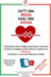 locandina defibrillatori milano donazione