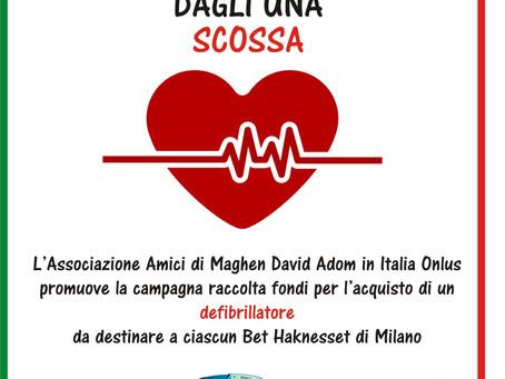 Un defibrillatore per ciascun Bet Haknesset di Milano