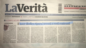 La Verità - 27/01/2019 - Il laser diodico ripara i tessuti a costi contenuti