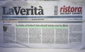 La Verità 08/09/2019 - La lotta ai batteri intestinali i inizia con la dieta