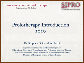 PROLOTHERAPY INTRODUCTION - WHAT THERE IS TO KNOW