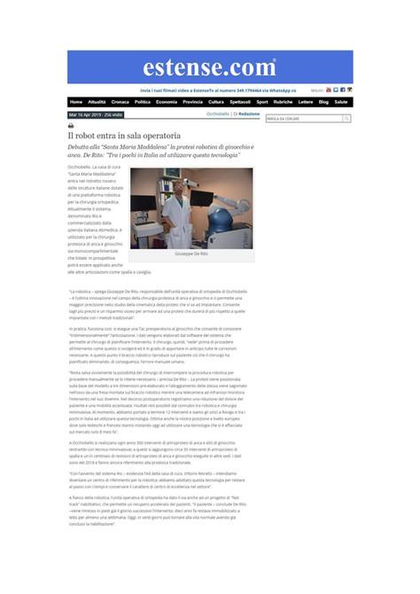 Estense.com - 16/04/2019 - Il robot entra in sala operatoria