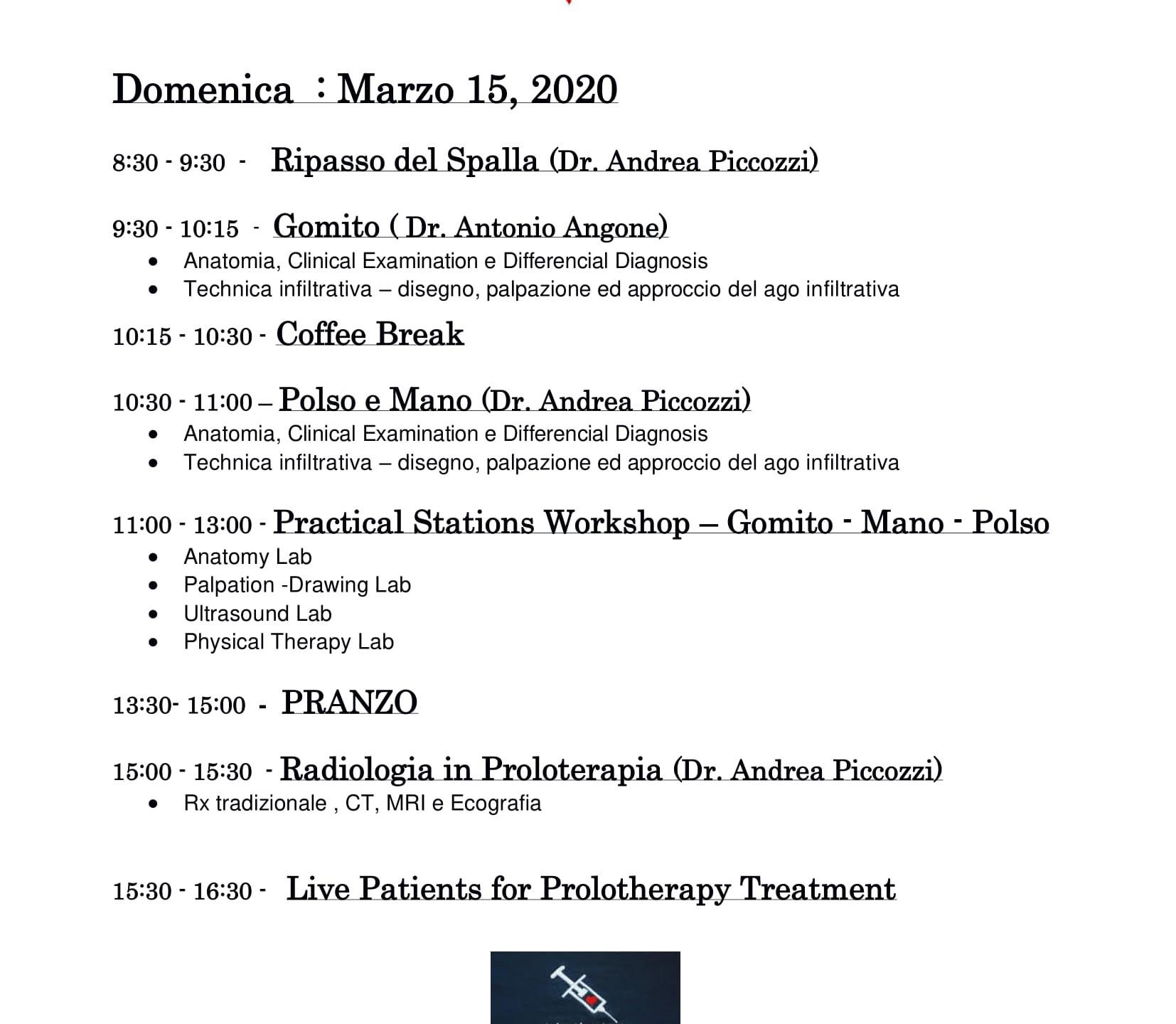2020 Arto Superiore Italiano Program ESP
