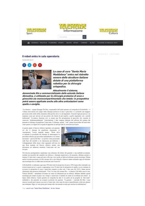 Telestense - 16/04/2019 - Il robot entra in sala operatoria