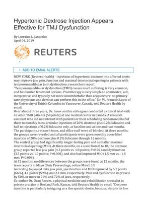Articolo - Reuters Health 4 aprile 2019 - Editorial - Reuters Health 4 April 2019